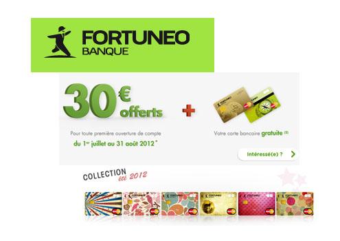 L'offre compte courant Fortuneo pour l'été 2012