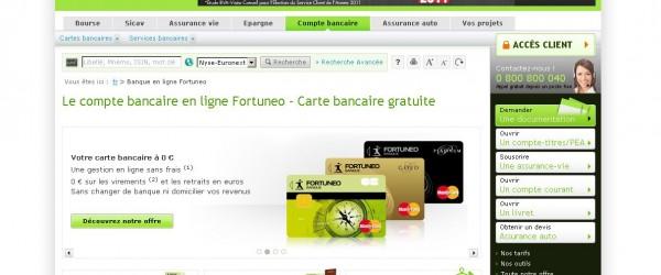 L'offre compte courant de Fortuneo pour cet été